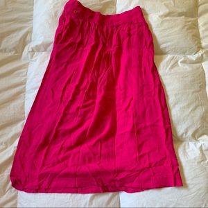Vintage hot pink midi skirt